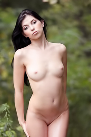 Radka Kostova gets naked in the forest