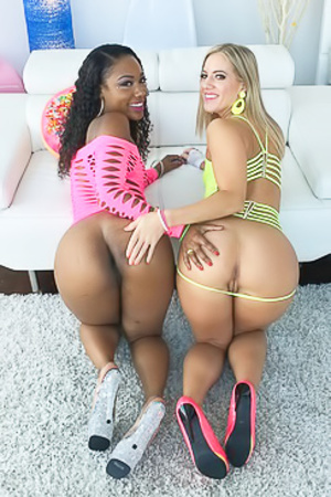 Chanell Heart And Candice Dare Big Butts Girls